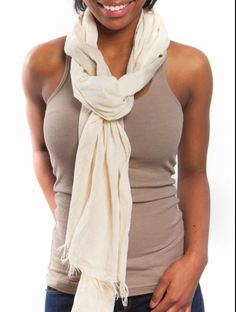 Handmade Alem scarf from fashionABLE. Perfect for spring/summer.