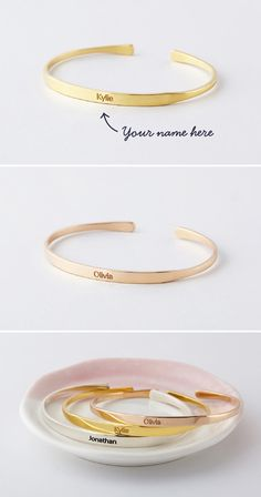 Shop personalized name bracelets in sterling silver with gold plate. Browse beautiful custom nameplate bracelet & baby name bracelet. Best Gifts For Girls, Birthday Gifts For Girls, Gifts For Teens, Gifts For Him, Girl Birthday, Engraved Bracelet, Name Bracelet, Wedding Day Bridesmaid Gifts, Bridesmaids