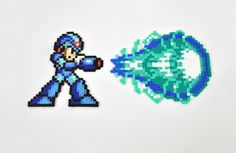 Mega Man X and Blast Magnet Perler Bead Super by TheCraftyChimera