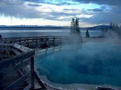 The Black Pool & Yellowstone Lake