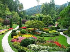 BUTCHART GARDENS  Victoria, British Columbia, Canada... I remember going here in 3rd grade...