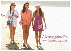 Vera Bradley makes a variety of crossbody styles for the girl on the go <3