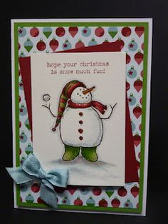 """Thought l would stop by and share a fun set of Christmas cards, using the Stampin-Up set """"Snow Much Fun"""".This post is a little photo hea. 3d Christmas, Homemade Christmas Cards, Christmas Cards To Make, Homemade Cards, Christmas Posters, Chrismas Cards, Xmas Cards, Holiday Cards, Hanukkah Cards"""