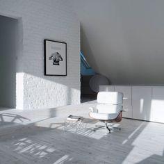 Loft contemporain / Minimaliste / épuré / blanc / intérieur moderne / Chambre / Parquet / Architecte d'intérieur : Agence MAYELLE / Photo : ©Pierre Rogeaux