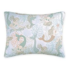 Evoke the mystical essence of the ocean life with the magically enchanting Mystic Echoes Pillow Sham. Adorned with a mermaid and seahorse print against a crisp white background, this charming sham is crafted from cotton for heavenly comfort. Echo Bedding, Linen Bedding, Bed Linens, Cheap Bedding Sets, Bedding Sets Online, Pillow Shams, Bed Pillows, Holly Willoughby Bedding, Mermaid Bedding