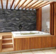 Hot Tub Privacy: Most Inspiring Ideas for Ultimate Comfort Hot T. - Hot Tub Privacy: Most Inspiring Ideas for Ultimate Comfort Hot Tub Privacy: Cozy Pa - Hot Tub Privacy, Hot Tub Backyard, Hot Tub Garden, Hot Tub Pergola, Backyard Pools, Pool Decks, Pool Landscaping, Outdoor Patio Designs, Backyard Pool Designs