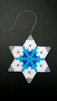 Christmas snowflake decoration white and por KimsGeekeryGrotto