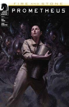 """Prometheus – Fire and Stone 4"" (2014) Cover di David Palumbo #Prometheus #DarkHorseComics #Aliens"