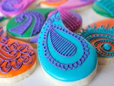 Moroccan inspired henna cookies. I think I need to create an event just to make these!
