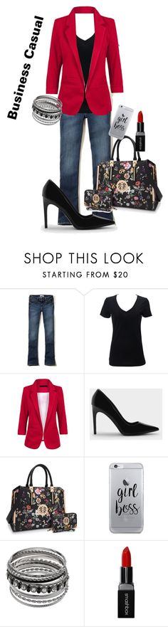 """""""Boss Babe"""" by kateclisby ❤ liked on Polyvore featuring Hollister Co., Simplex Apparel, CHARLES & KEITH, Fifth & Ninth and Smashbox"""