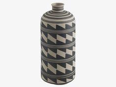 KAVITA MULTI-COLOURED Ceramic Black and white ceramic bottle vase - HabitatUK