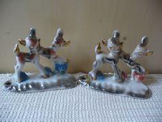 Vintage porcelain deer figurines- 50s