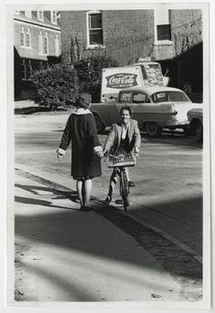 [Student with a Bike on Campus, 1965] :: UNCG University Archives