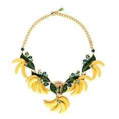 Dolce & Gabbana Cerimonia banana necklace (€1.180) ❤ liked on Polyvore featuring jewelry, necklaces, accessories, gold multi, glitter necklace, leaf necklace, leaves jewelry, glitter jewelry and dolce gabbana jewelry