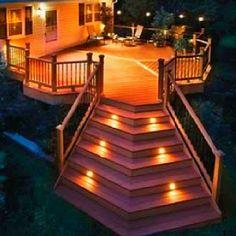 Deck Lighting ***Repinned by Normoe, the Backyard Guy (#1 backyardguy on Earth) Follow us on; http://twitter.com/backyardguy