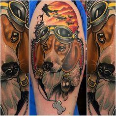 Beagle Tattoo by Neil Dransfield