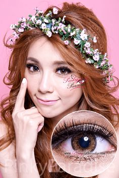 Mi Sunflower Brown Toric Circle Lenses (Colored Contacts)