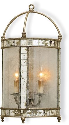 Currey and Company 5032 Corsica Wall Sconce Harlow Silver Leaf Indoor Lighting Wall Sconces Wall Sconces