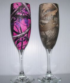 Wedding champagne glasses and serving set processed by RuttinCamo, $79.90