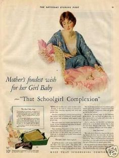 "Palmolive Soap Color Ad ""Mother's Fondest... (1927)"