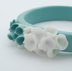 Cottesloe Porcelain Bracelet Bangle Turquoise Green by MaaPstudio