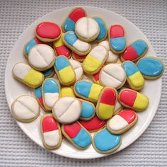 pill shaped sugar cookies...and some more. Trust me...I'll just make the narcotics...the cool ones, ya know