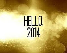 New Years eve 2014 Hello 2014 Gold sign 10x8 by atasteofeverything, $3.50
