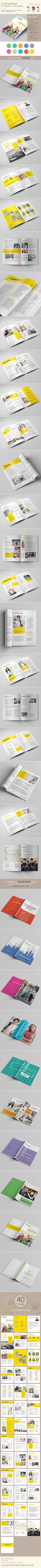 Undergraduate Prospectus Template InDesign INDD #design Download: http://graphicriver.net/item/undergraduate-prospectus/14247314?ref=ksioks