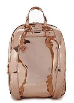 Rose gold leather backpack - Sale                                                                                                                                                     More