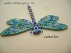 Quilled dragonfly. Amazing!