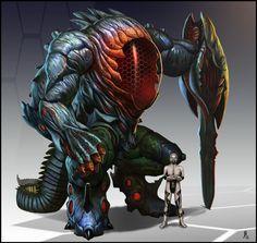 Orgamech by Davesrightmind on DeviantArt Alien Concept Art, Creature Concept Art, Weapon Concept Art, Creature Design, Alien Character, Character Art, Aliens, Cyberpunk, Space Opera