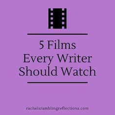 I've seen them all except Stranger Than Fiction. Will Ferrell sort of annoys me. In case you need a break from staring at a blank screen and crying: 5 Films Every Writer Should Watch Fiction Writing, Writing Advice, Writing Resources, Writing Quotes, Writing Help, Writing Skills, Writing A Book, Writing Ideas, Writing Goals