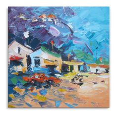 Southward  art street painting wall decor by ImpastoOilPaintings