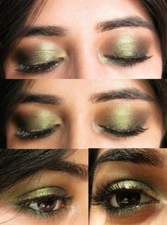 gold-olive green duochrome