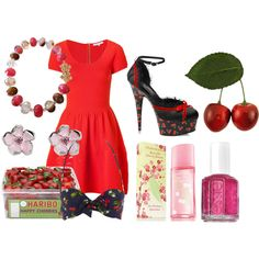 Cherry bomb, created by lewika26 on Polyvore