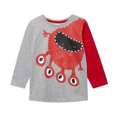 d7fa045f3d5 bluezoo Boy s grey monster t-shirt. TrampolinesKids OutfitsBaby ...