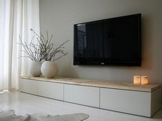 The Perfect TV Wall Ideas That Will Not Sacrifice Your Look – 14 – Typical Miracle Ikea Living Room, Living Room Modern, Living Room Interior, Home And Living, Living Rooms, Modern Tv Wall Units, Living Room Tv Unit Designs, Tv On Wall Ideas Living Room, Appartement Design