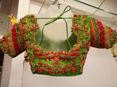 Saved by radhareddy garisa Traditional Blouse Designs, South Indian Blouse Designs, Best Blouse Designs, Bridal Blouse Designs, Cut Work Blouse, Pattu Saree Blouse Designs, Designer Blouse Patterns, Indian Designer Wear, Maggam Works