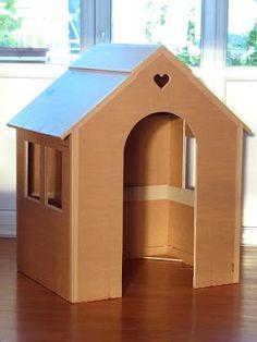 Carton, bricolage, décoration...: Sa maison est en carton...