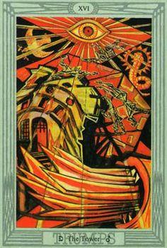 A Torre no Thoth Tarot de Crowley e Frieda Harris