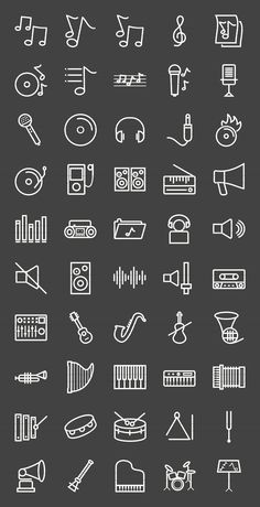 50 Music Line Inverted Icons , Mini Tattoos, Small Tattoos, Easy Tattoos, Crown Tattoos, Bullet Journal Art, Bullet Journal Ideas Pages, Music Journal, Mini Drawings, Easy Drawings