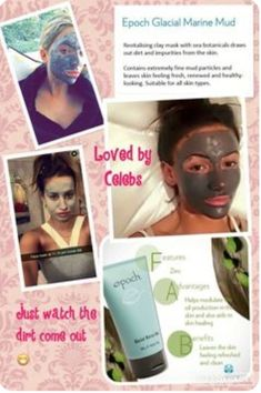 Even the celebs are using this amazing mud mask! Anti Aging Cream, Anti Aging Skin Care, Epoch Mud Mask, Nuskin Toothpaste, Marine Mud Mask, Glacial Marine Mud, Snapchat, Skin Care Remedies, Healthy Skin Care