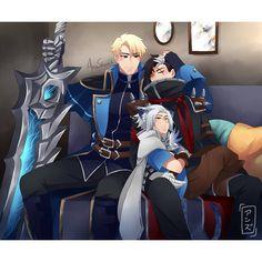 Alucard x Harith x Granger. Bang Bang, Mobile Legend Wallpaper, Hero Wallpaper, Mobiles, Alucard Mobile Legends, Moba Legends, Legend Games, The Legend Of Heroes, Anime Family