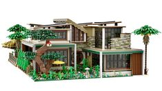 The New Concept House Casa Lego, Different Architectural Styles, Lego Design, Lego Architecture, Lego Creator, Lego House, Outdoor Furniture Sets, Outdoor Decor, Lego Building