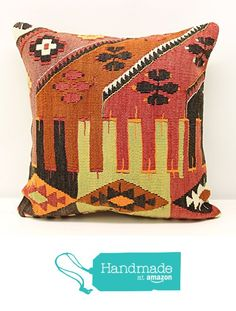 Handmade kilim pillow cover 18x18 inch (45x45 cm) Oriental Kilim pillow cover Home Decor Natural Pillow cover Accent Kilim Cushion Cover from Kilimwarehouse https://www.amazon.com/dp/B01N6UY3CB/ref=hnd_sw_r_pi_dp_9Fb8ybG47JJVC #handmadeatamazon