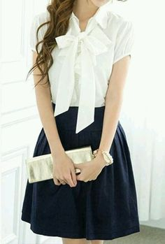 Navy skirt cute for school if we are allowed too....