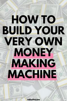 Do you want to build your own money making machine starting today? Make money work for you, earn passive income, and get to your financial goals faster! #passiveincome #makemoney #personalfinance #bossbabe Money Hacks, Money Tips, Money Saving Tips, Make Money Today, Make Easy Money, Money Making Machine, Wealth Quotes, Dividend Investing, Creating Wealth