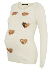 Maternity Heart Jumper