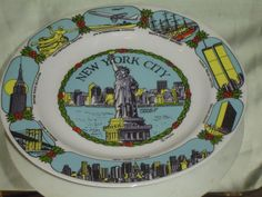 New York City Statue of Liberty Souvenir Plate by LONLAR803, $14.00