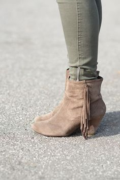 Fringe booties-must have